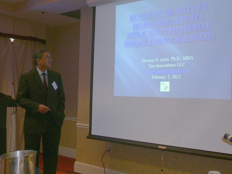 Hemant Joshi at Sterile dosage packaging conference, Feb'12